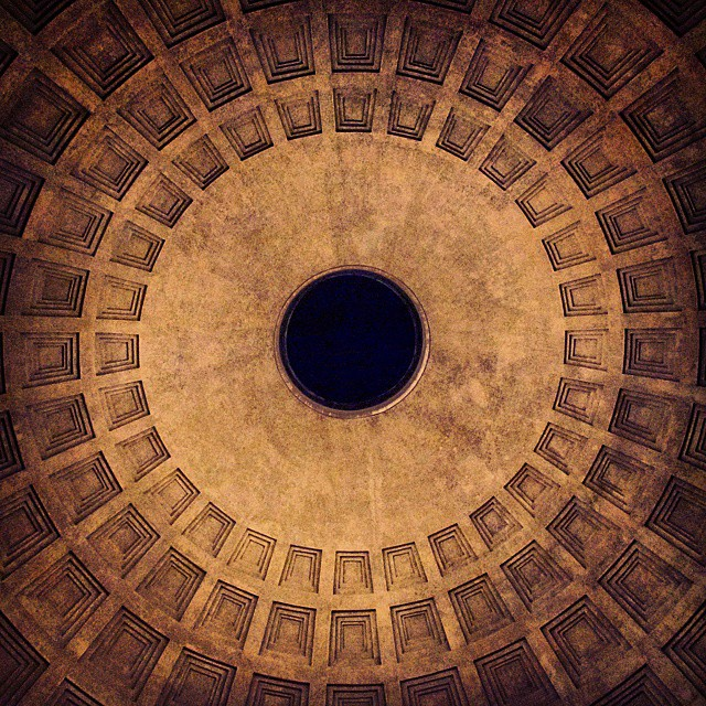 The roof of the Pantheon. It might not look like…