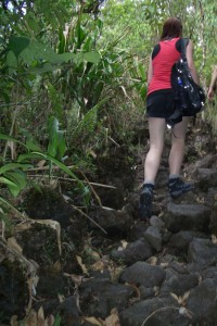 Hiking up Arenal volcano