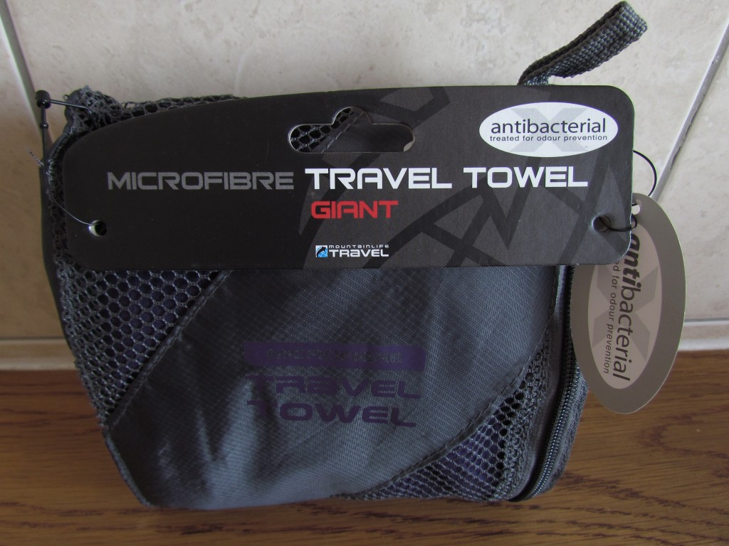 Essential toiletries for long-term travel towel