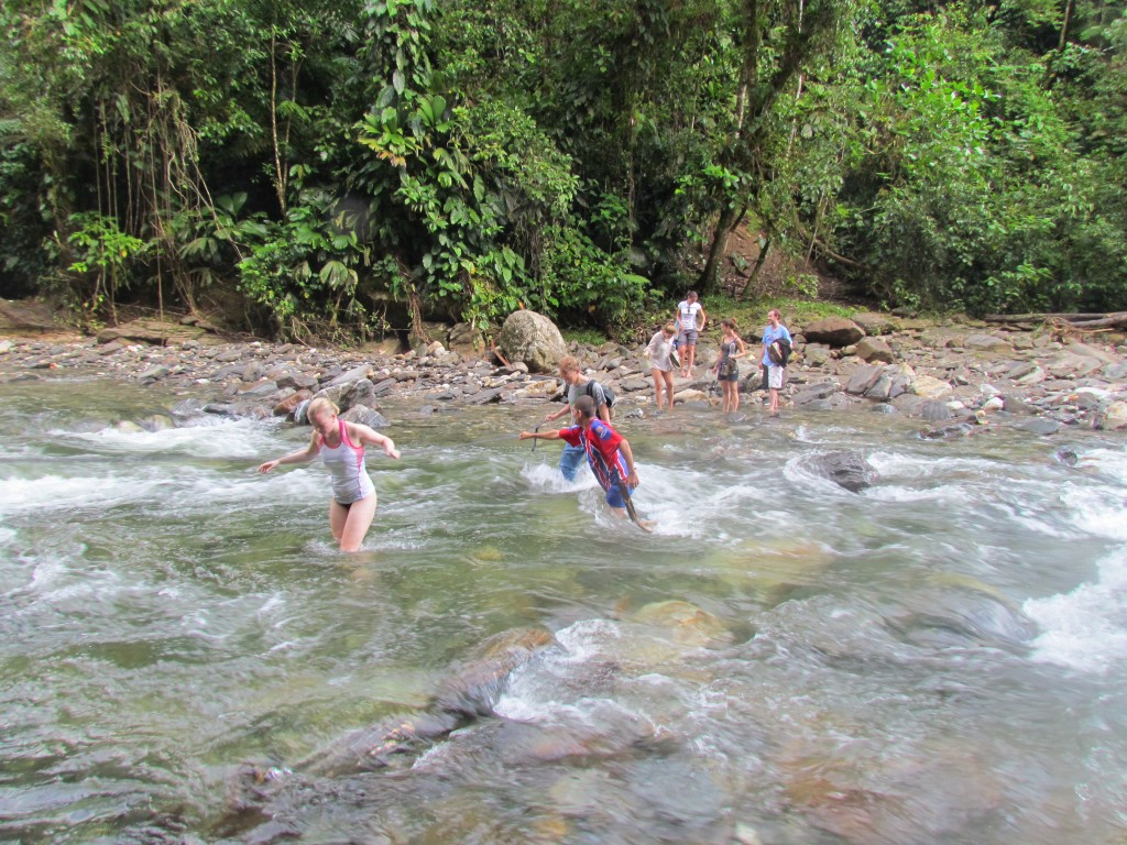 Lost City trek - river crossing