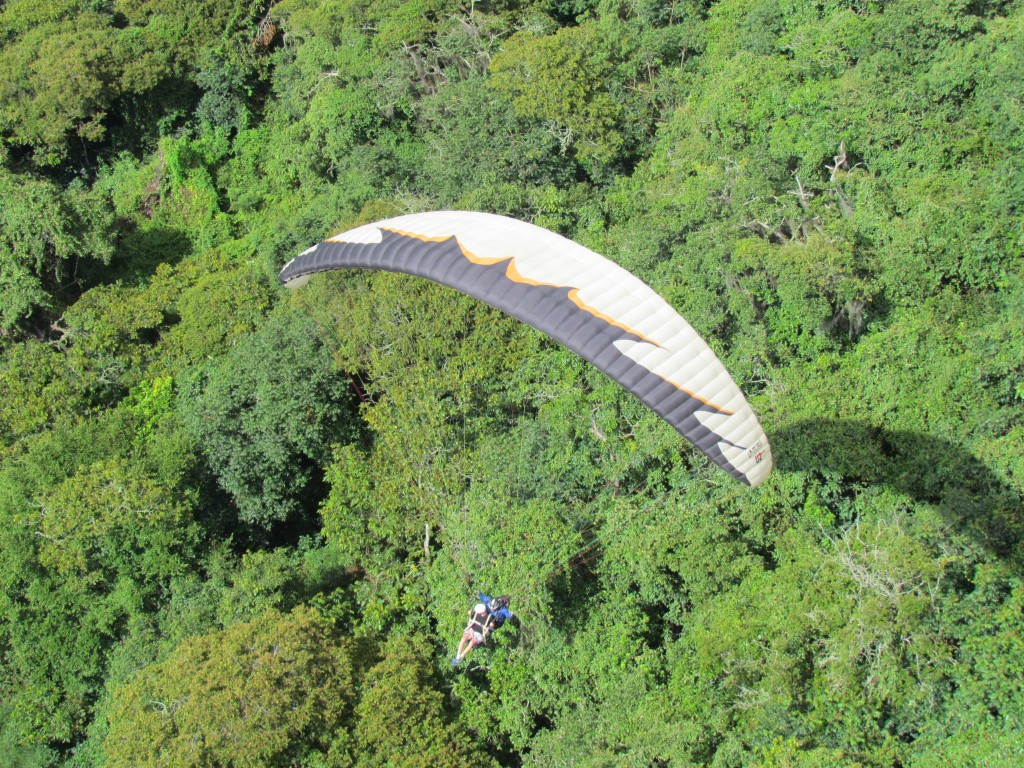 Paragliding in San Gil - look out below