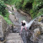 Rappelling Down Juan Curi Waterfall