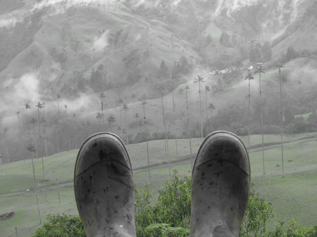Hiking in the Cocora Valley - wellies