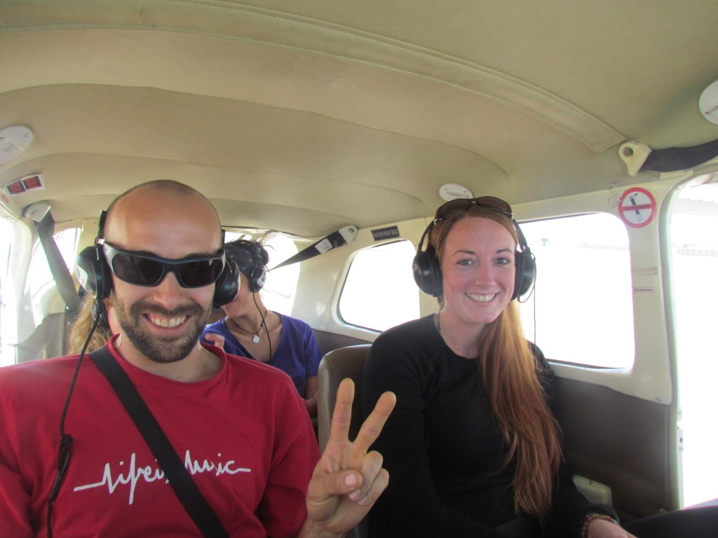 Flying over Nazca -  this was actually taken 'before' the flight