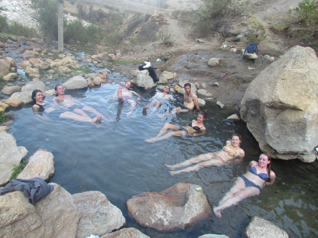 Hiking the Santa Cruz Trek (Huaraz) - thermal baths