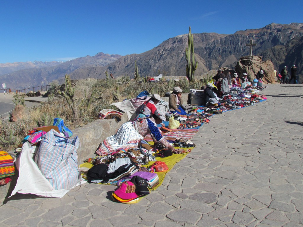 Andean condor Colca Canyon Condor Cross - women selling souvenirs