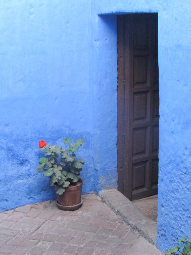 Santa Catalina Monastery - blue walls