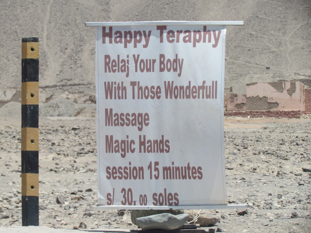 Flying over Nazca -  massages
