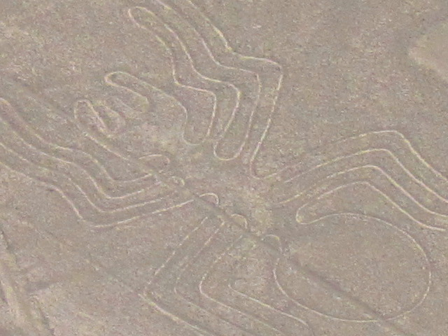 Flying over Nazca -  the 'spider'
