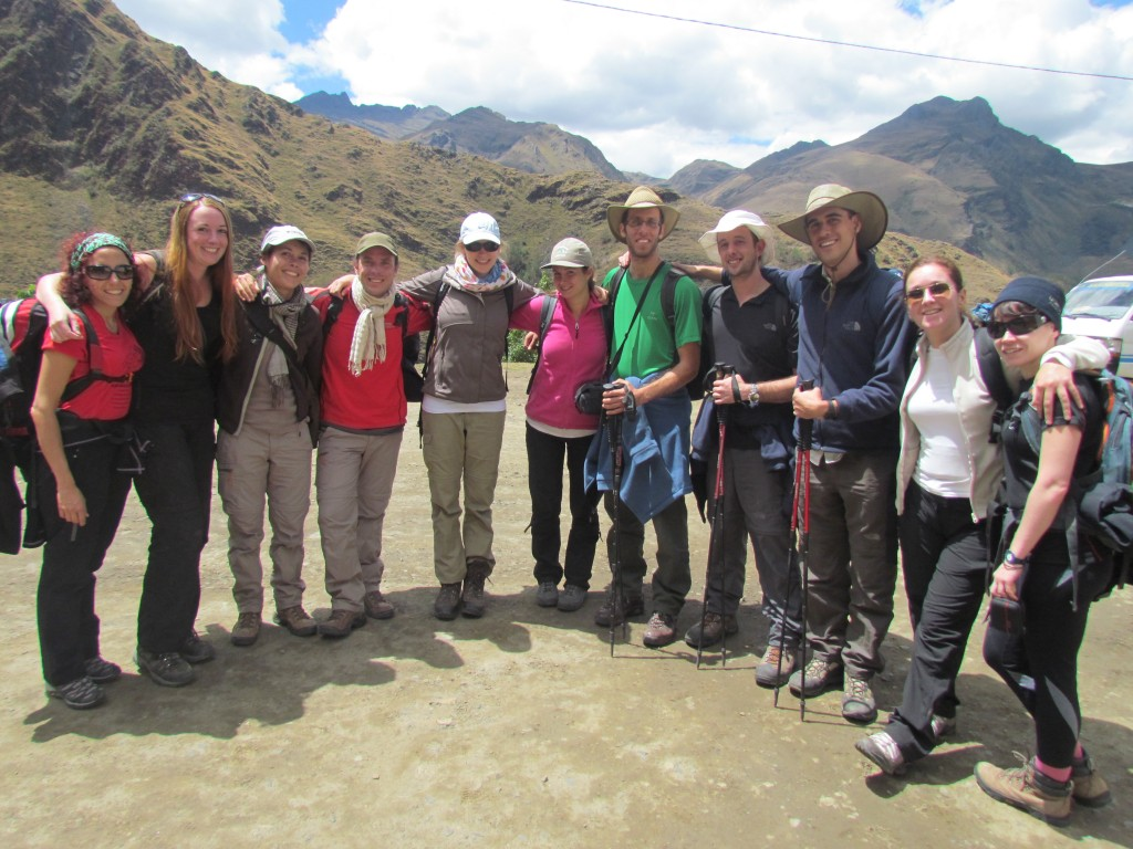 Hiking the Santa Cruz Trek (Huaraz) - the group