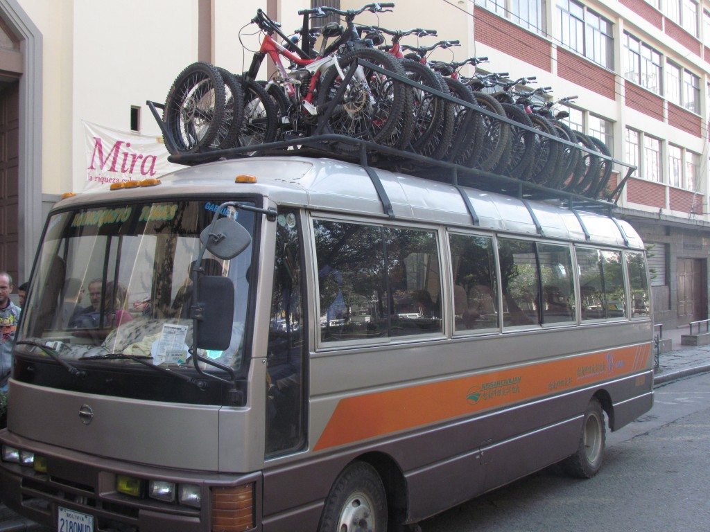 Cycling death road - the bus