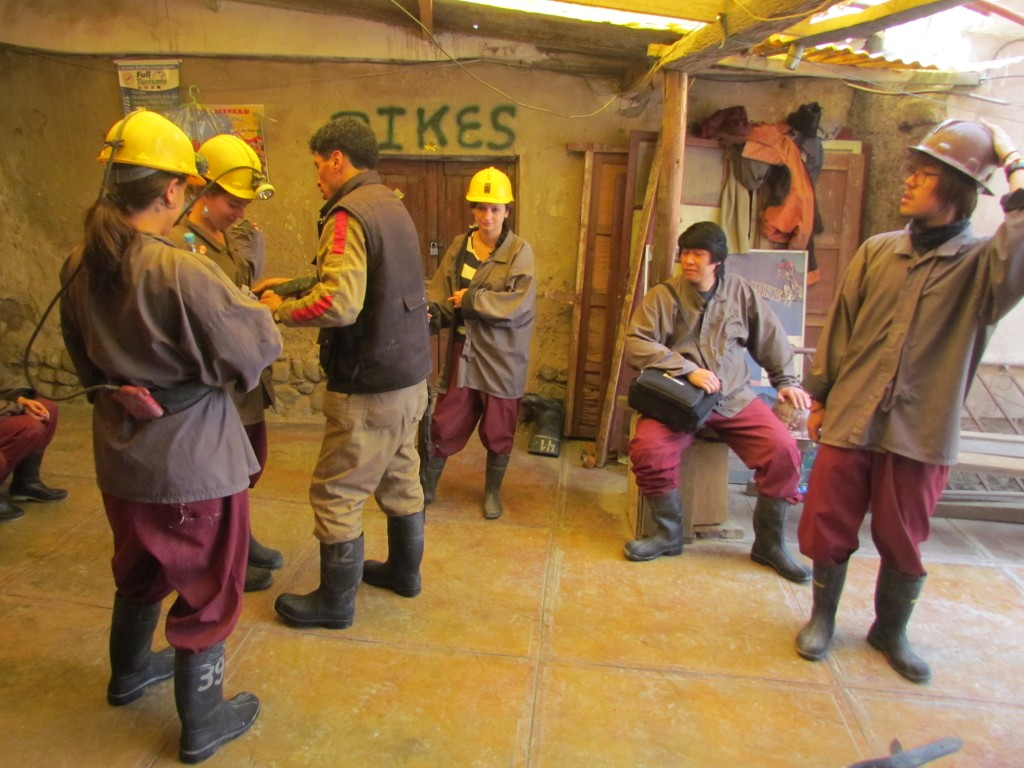 Potosi mines - getting ready