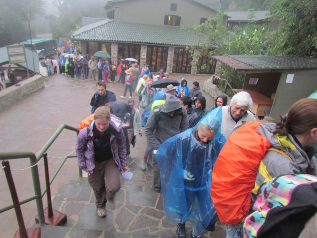 A day in Machu Picchu - big queue