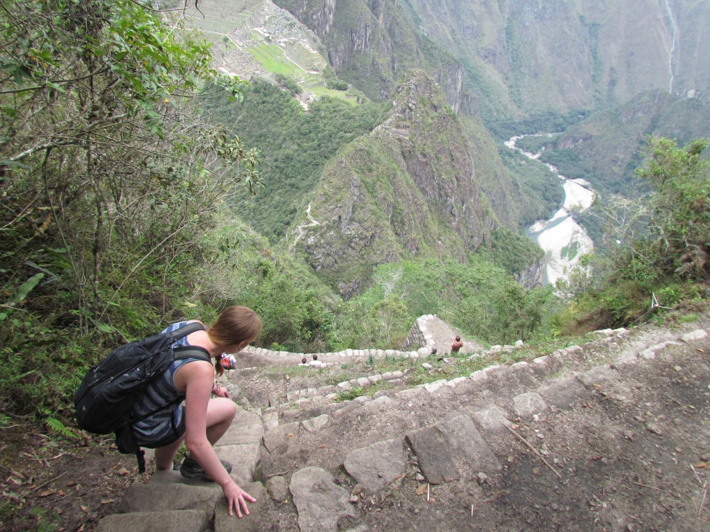 A day in Machu Picchu - long way down