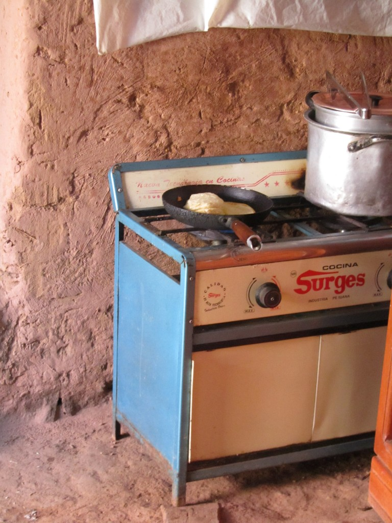 Homestay on Amantani - the stove