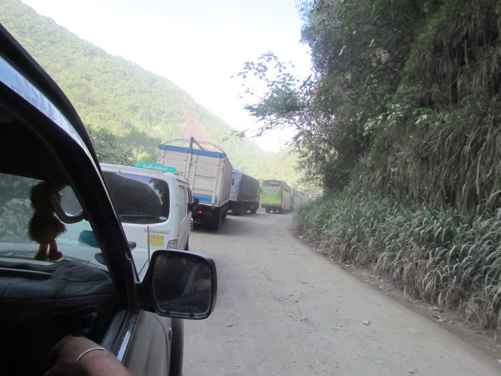 Jeep to Rurrenabaque - traffiic jam