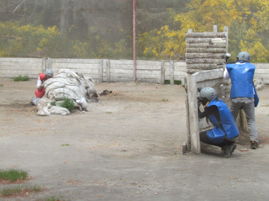Paintballing in Bariloche - in action