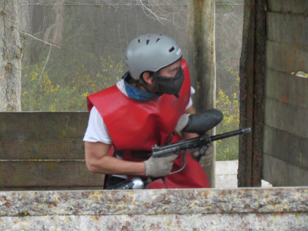 Paintballing in Bariloche - in the tower!