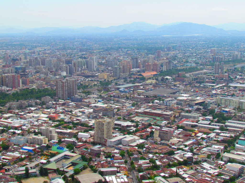 Top sights in Santiago - panorama
