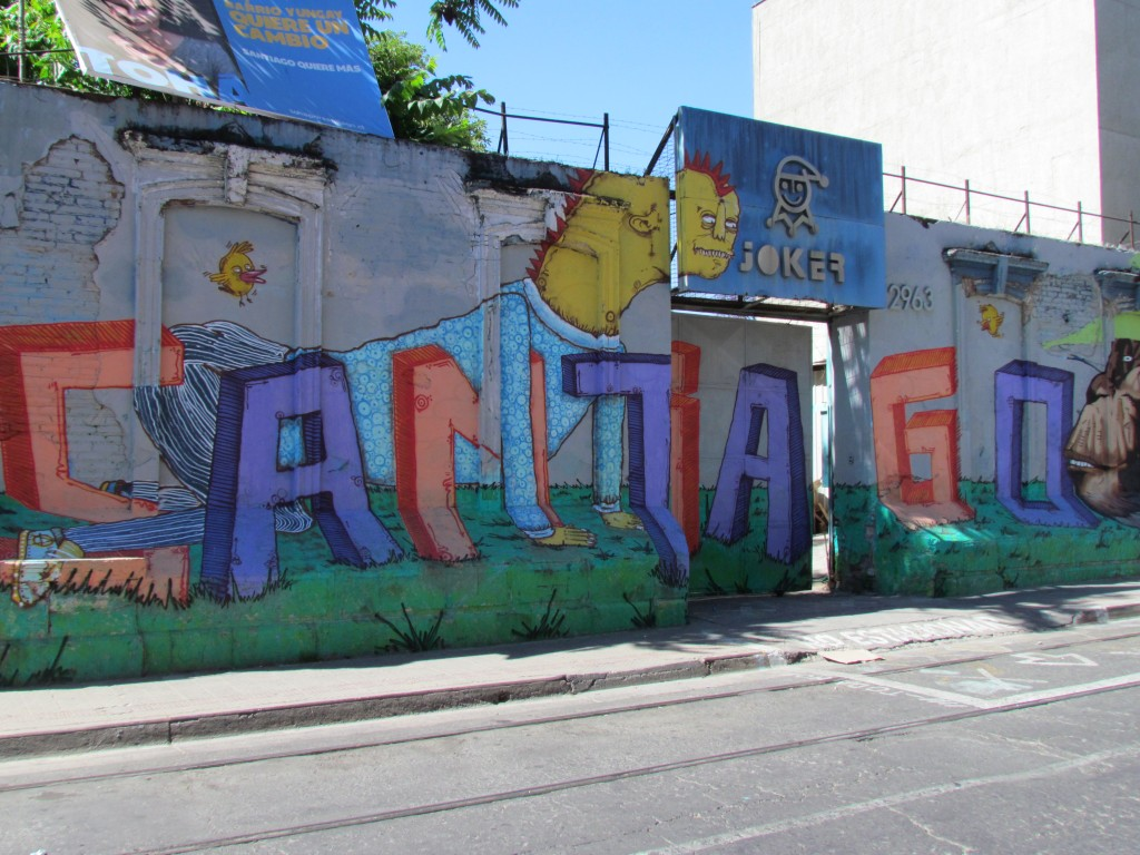 Top sights in Santiago - graffiti