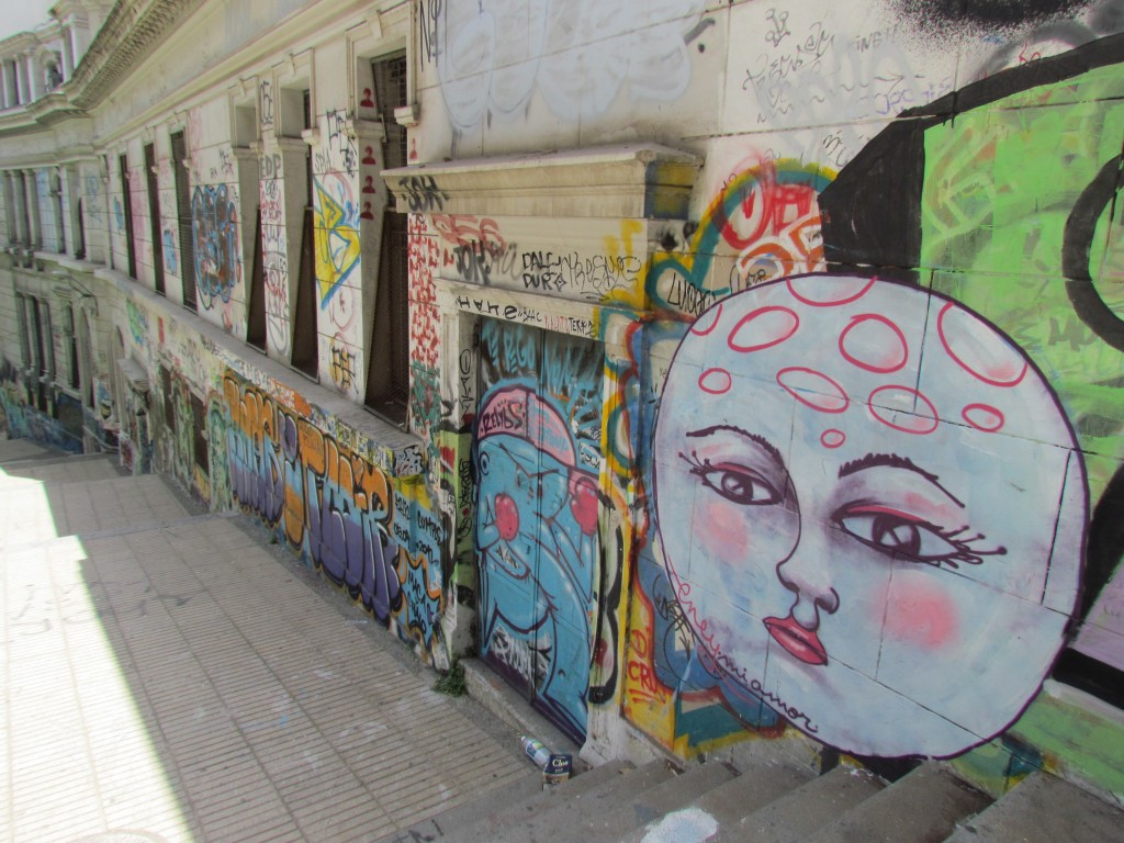 Graffiti doesn't have to be vandalism - moon face