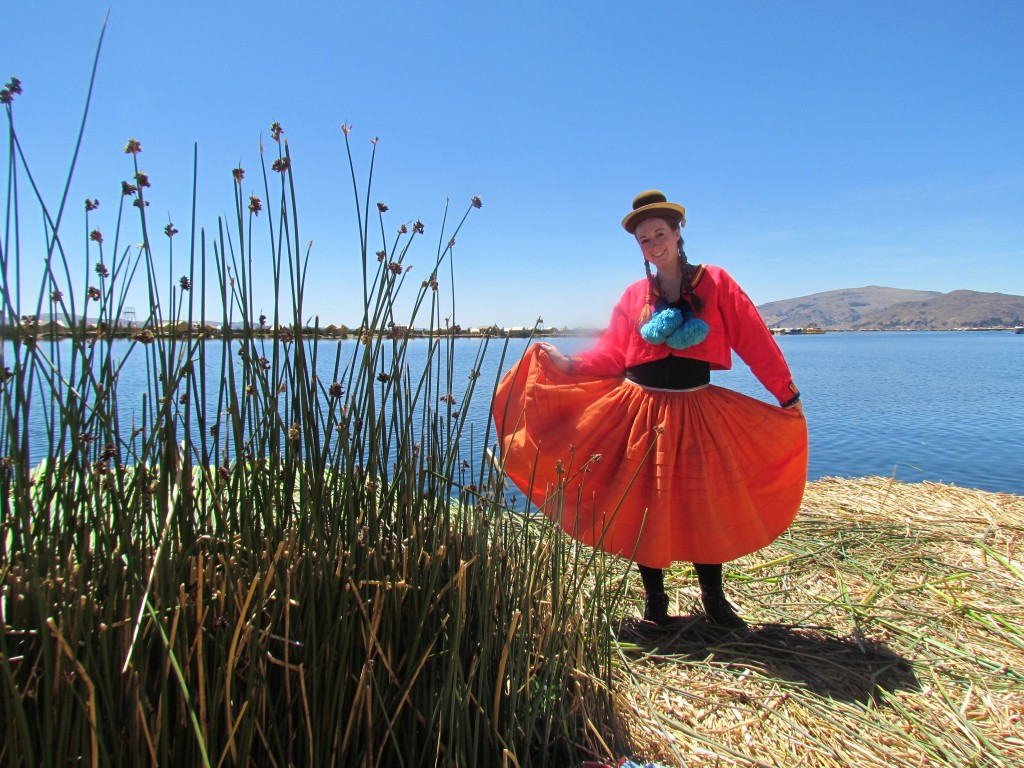 Floating Uros Islands - me dressed up