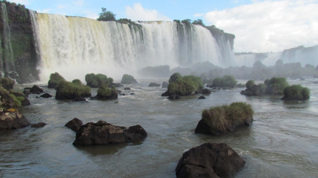 Iguazu falls at new year - Brazil side