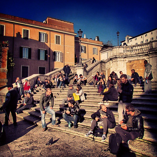 Rome's Spanish Steps - named because of their proximity to…