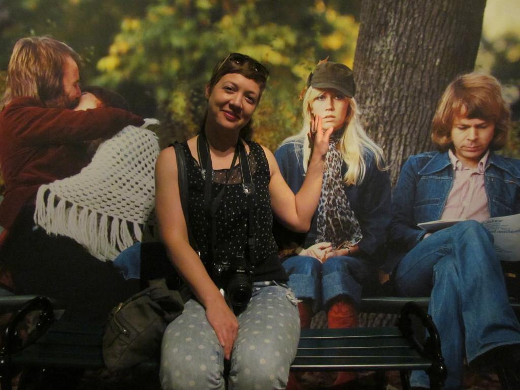 ABBA museum - park bench by Bex