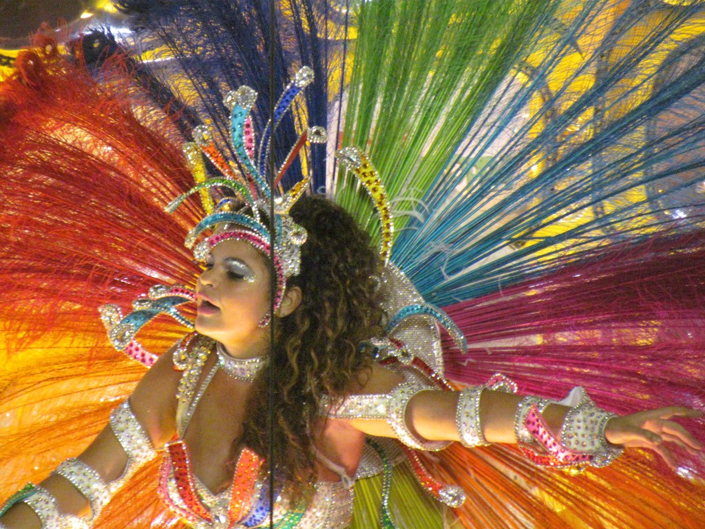Rio Carnival Sambadrome parade - beautiful costume