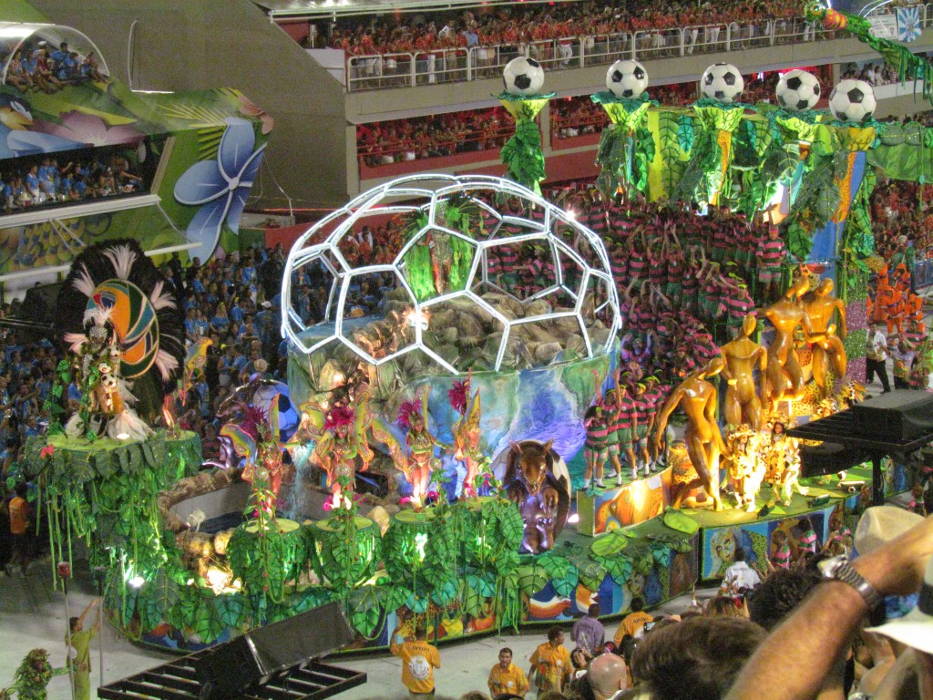 Rio Carnival Sambadrome parade - football float