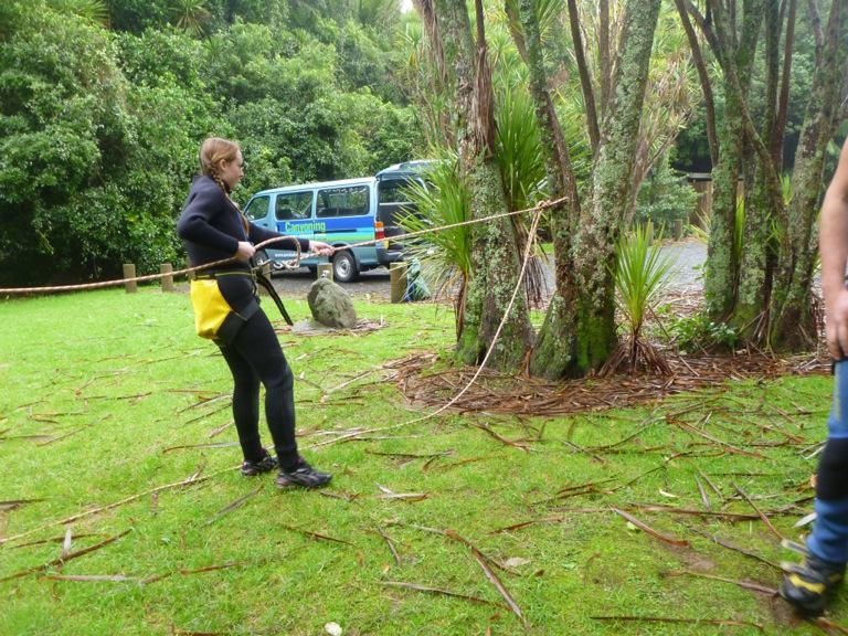 AWOL Piha Canyoning - learning the ropes