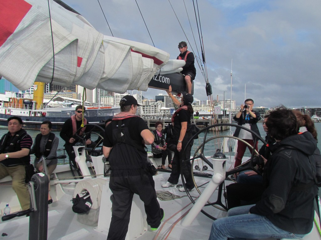 America's Cup Sailing in Auckland - Mucking in