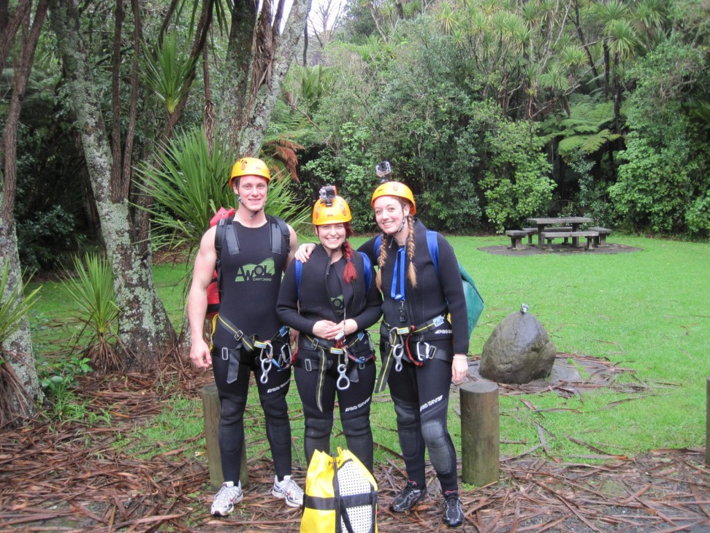 AWOL Piha Canyoning - the before shot
