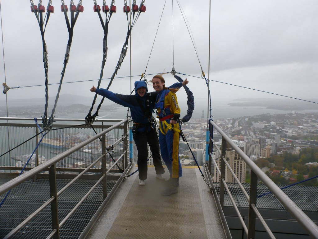 Auckland SkyJump - waiting in the wind
