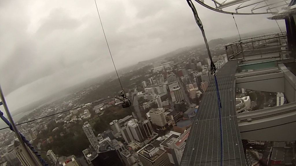 Auckland SkyJump - the view from the platform