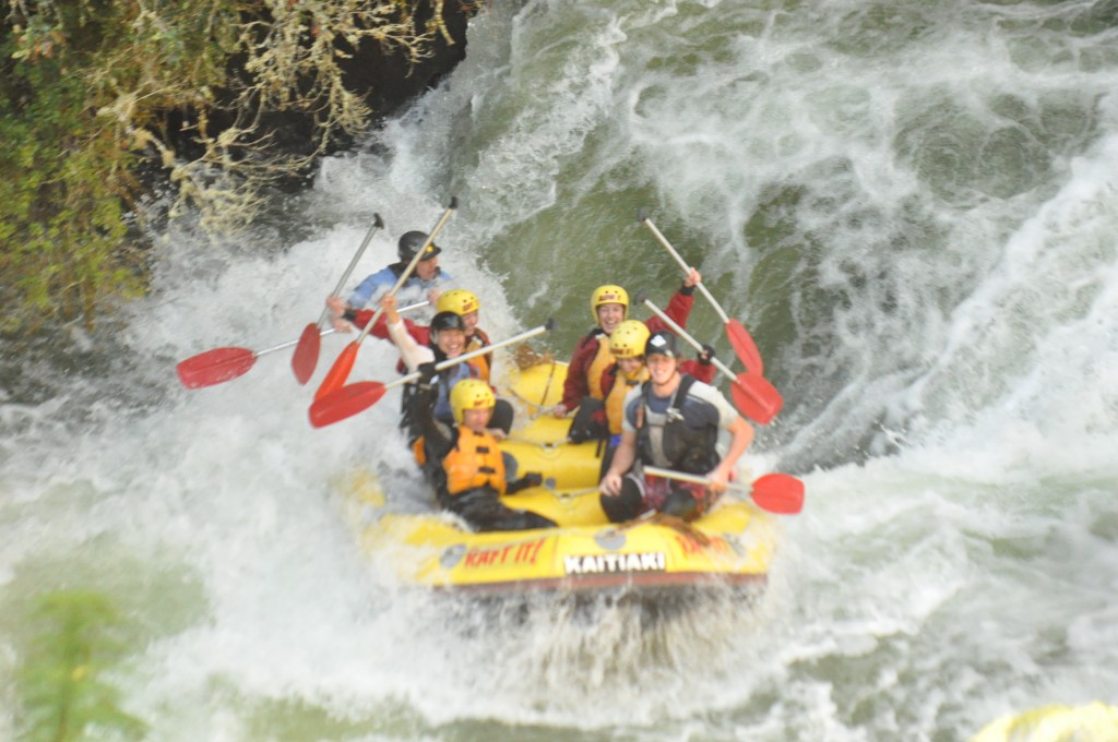 Rafting in New Zealand - Kaitiaki Adventures - We made it!