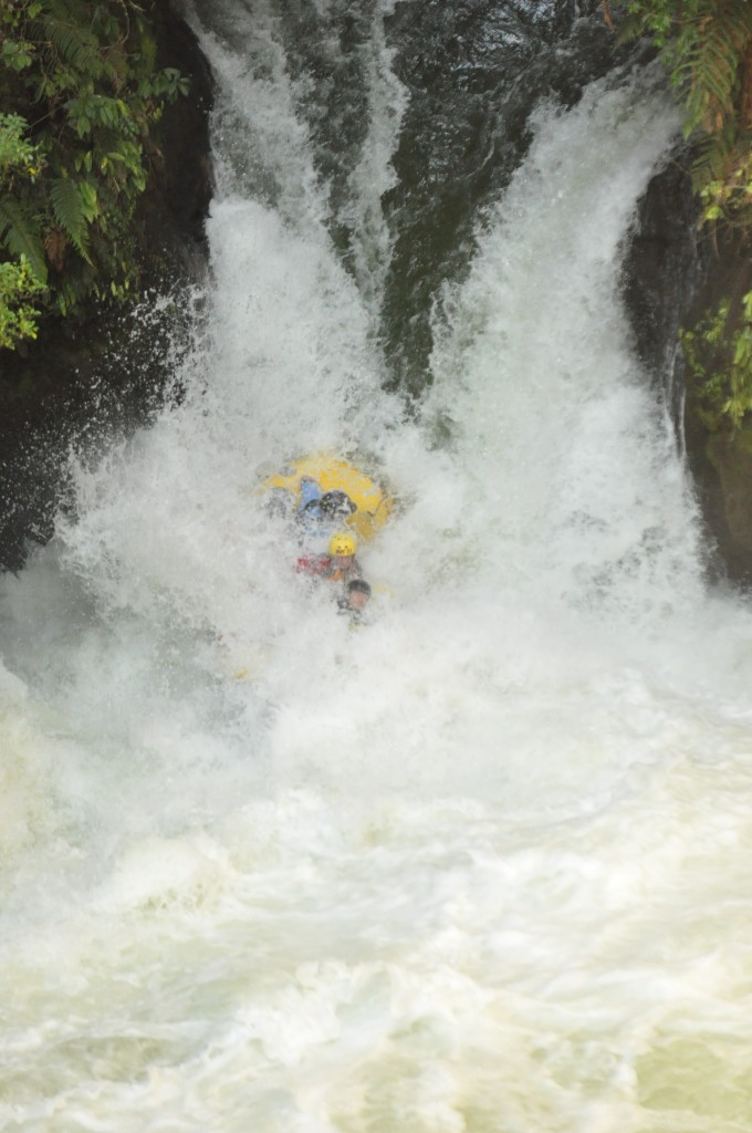 Rafting in New Zealand - Kaitiaki Adventures - 7 metre waterfall part 4