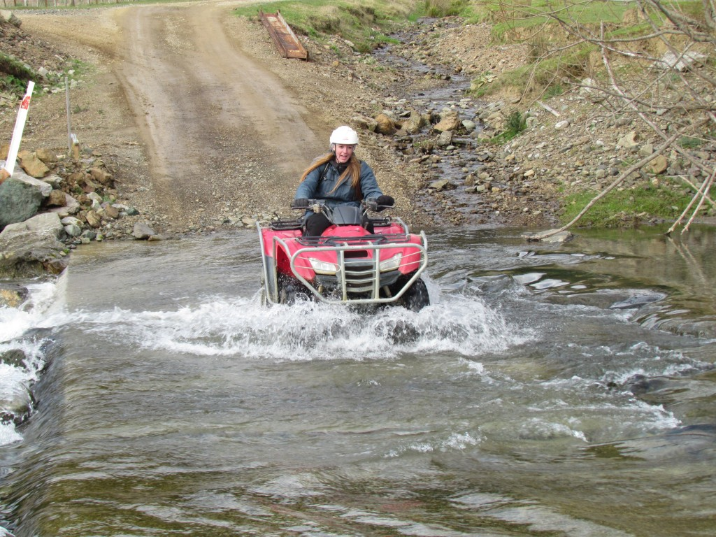 Happy Valley Adventures - quad biking a river