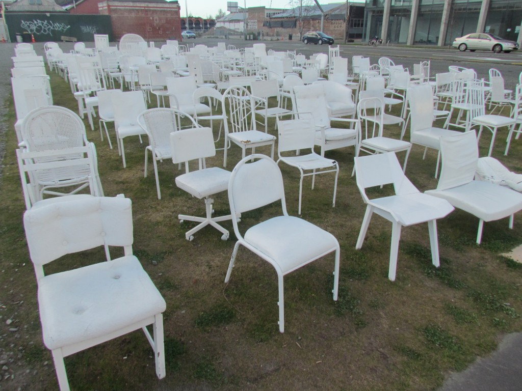 Two Years After the Christchurch Earthquake - chair memorial