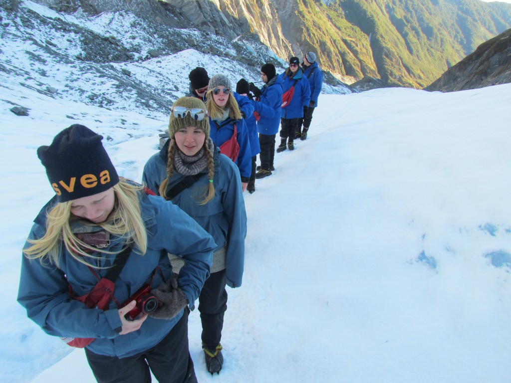 Hike on Franz Josef Glacier - follow the leader