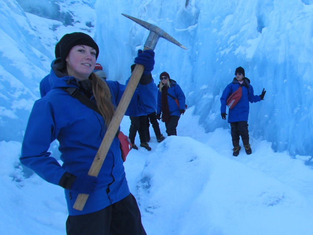 Hike on Franz Josef Glacier - ice pick