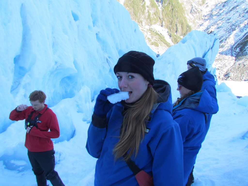 Hike on Franz Josef Glacier - eating ice