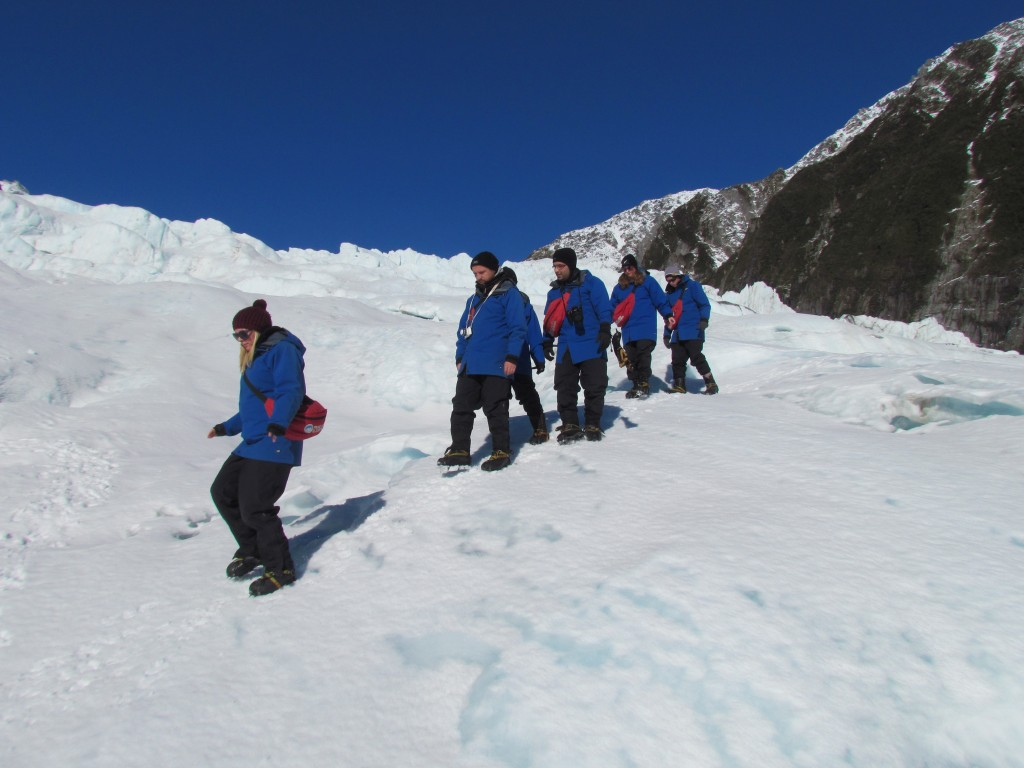 Glacier hike on Franz Josef - heading back