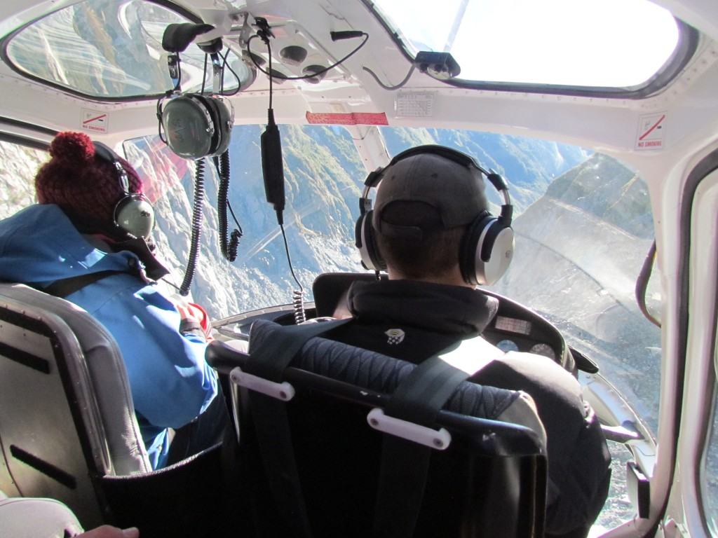 Glacier hike on Franz Josef - helicopter ride