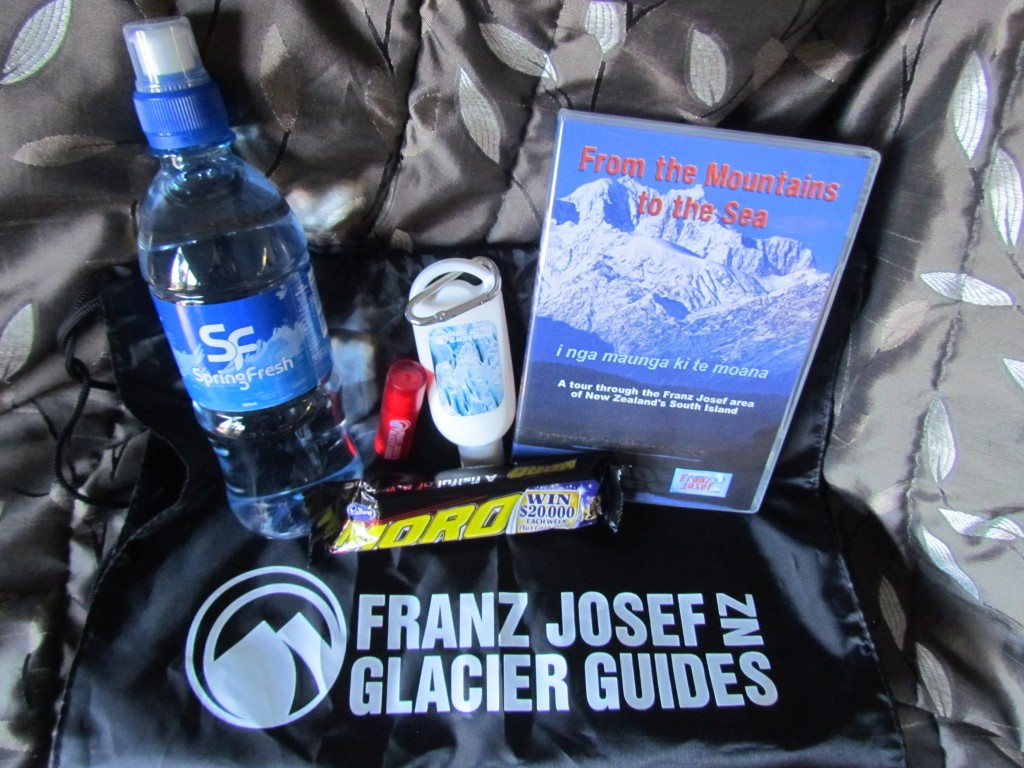 Glacier hike on Franz Josef - goody bag