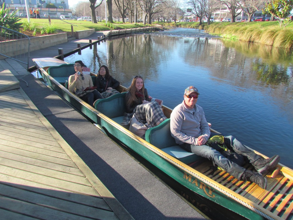 Two Years After the Christchurch Earthquake - punting the Avon