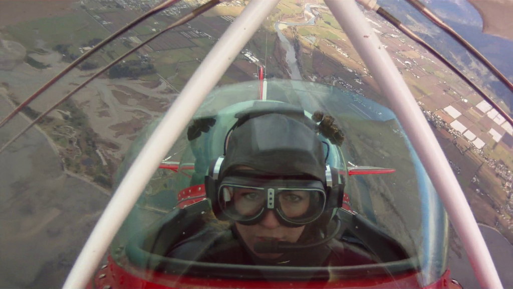 Learn to Fly a Stunt Plane in Abel Tasman - going up!