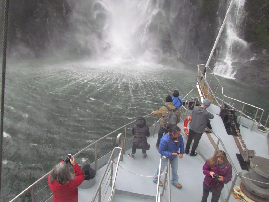 Milford Sound with Real Journeys - close up