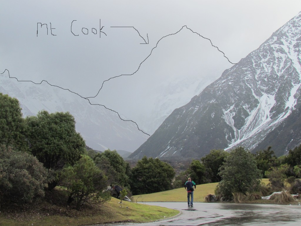 Visiting Mount Cook from Queenstown - no view